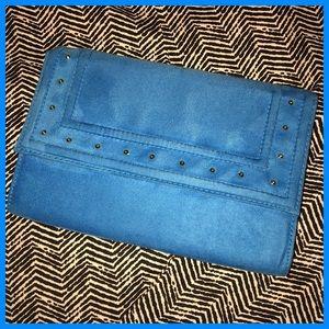 Teal Blue Envelope Purse Clutch